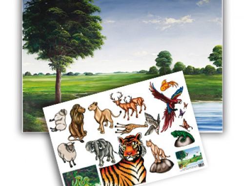 Fondo papel: animales de la Creación