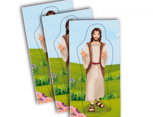 Autoadhesivos: Jesús en la pradera