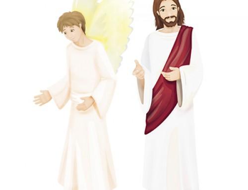 Lámina papel: Jesús y Ángel