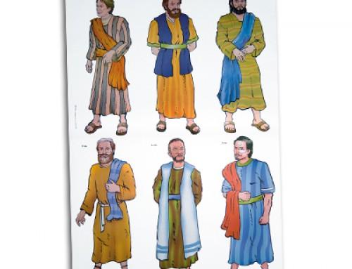 Lámina papel: Doce discípulos