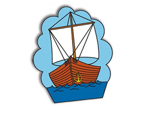 Manopla paño: Barco