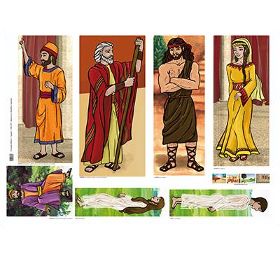 Personajes bíblicos en papel