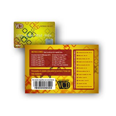 VCD – Dúo tarjeta conconcordancia