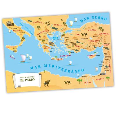 Mapa: viajes de Pablo