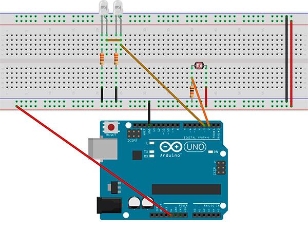 Ensamblando los componentes en la placa Arduino