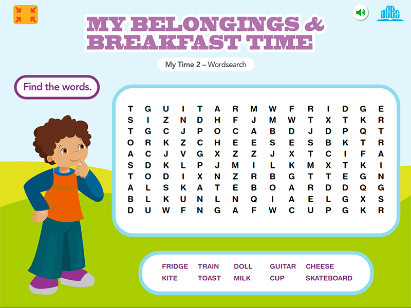 My Time 2 - DLO Wordsearch