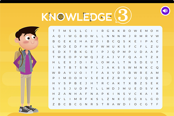 Vocabulary game 4 - Knowledge 3